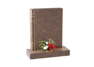 Yellow Teak granite headstone