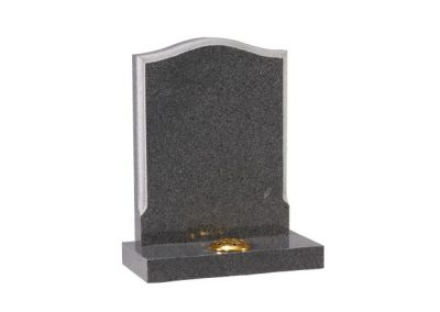 Avon Grey granite headstone with contrasting moulded edge