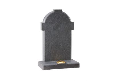 Dark Grey Granite cross headstone with a honed finish