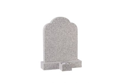 Cornish granite headstone with separate vase in front