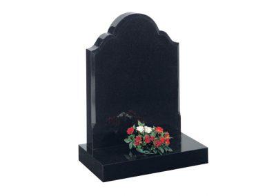 Black granite lawn memorial