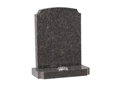 Medium Grey granite lawn memorial with scotia shaping on the shoulders and base