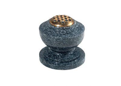 Grey granite bowl flower container vase