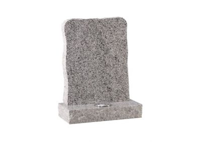 Light Grey granite memorial with pitched edge