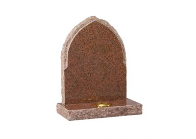 Balmoral Red granite headstone with pointed top