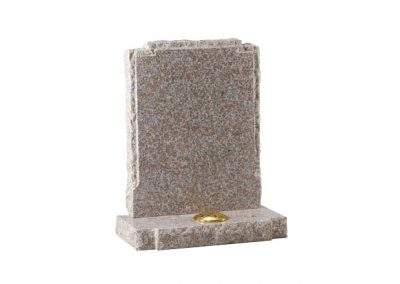 Autumn brown granite headstone with pitched side