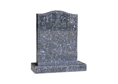 Blue Pearl granite headstone with polished rope edge