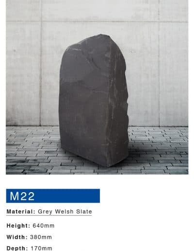 Welsh Slate Boulder Memorial by Mossfords