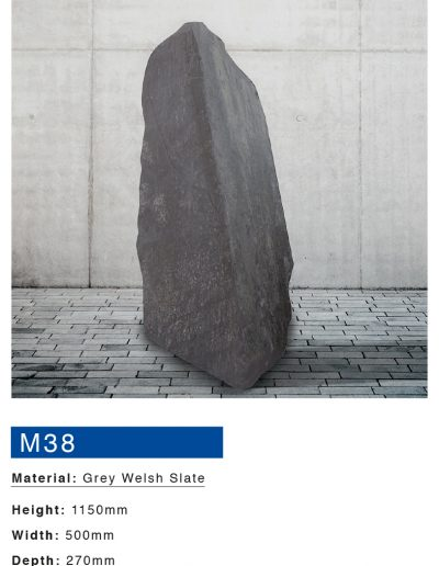 Grey Welsh Slate Boulder Monument by Mossfords