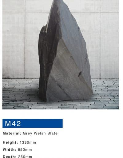 Grey welsh slate monument by Mossfords Memorials