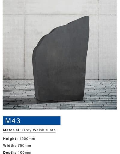 Grey welsh slate boulder memorial by Mossfords memorials