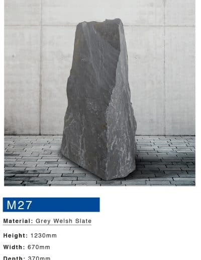 Grey welsh slate memorial monument by Mossfords