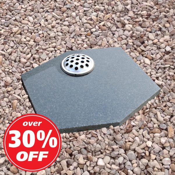 Grey Granite Hexagonal Memorial Plaque