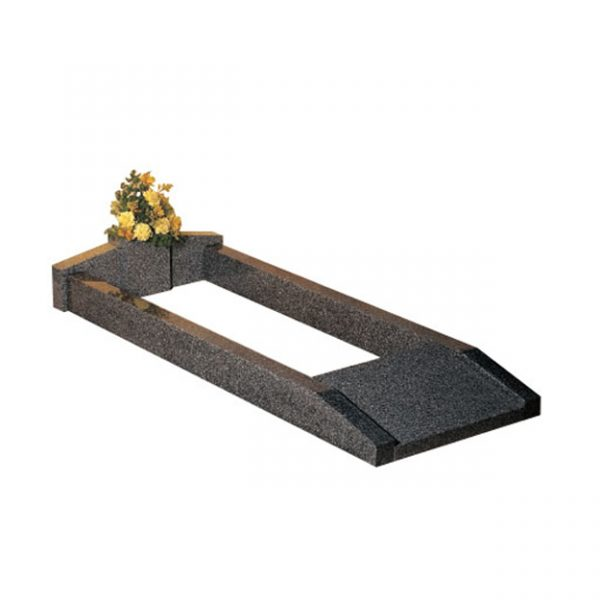 Lunar Grey Granite Kerb Set Memorial