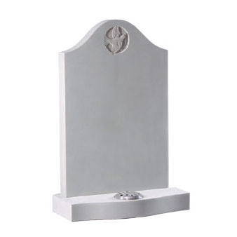 Portland Stone Ogee Headstone with Dove Design