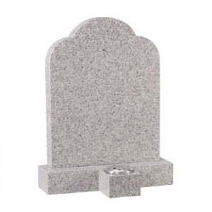Cornish Granite Headstone with Memorial Flower Vase