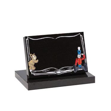Black Children's Book Memorial with Bear and Soldier Design