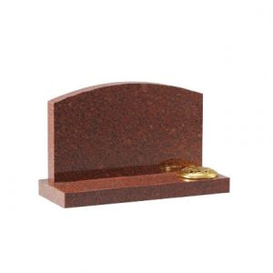 Ruby Red Granite Small Headstone with Arch Top