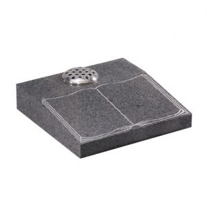 Grey Granite Desk Memorial with Etched Book
