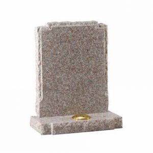 Brown Granite Pitched Edge Lawn Memorial