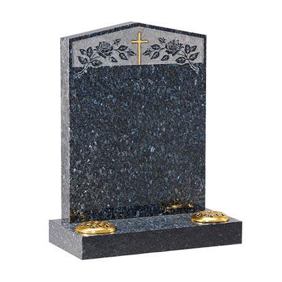 Blue Pearl Peon Top Headstone