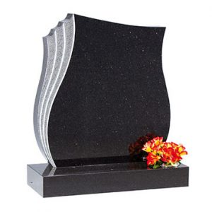 Star Galaxy Granite Lawn Memorial with Grey Edge