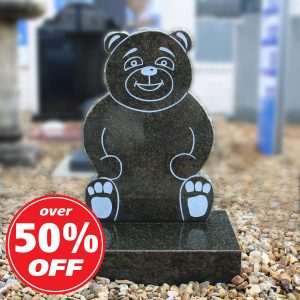 Granite Teddy Bear Children's Headstone