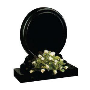 Black Granite Round Lawn Memorial