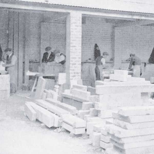 The Mossfords workforce in the memorial workshop