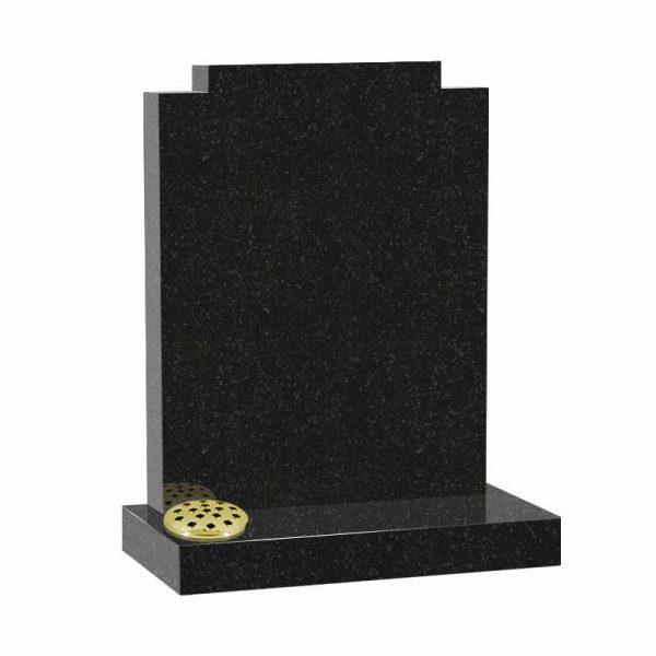 Check top memorial headstone in black granite