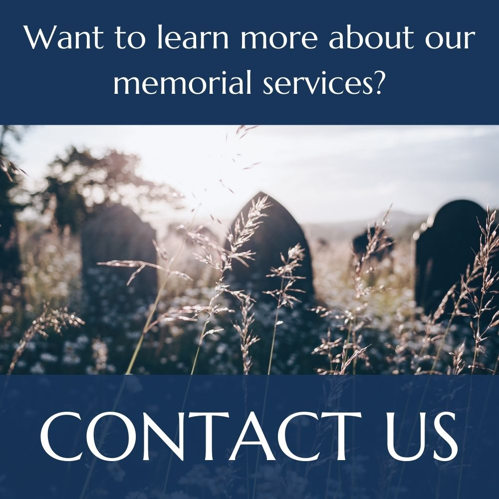Learn more about memorial services