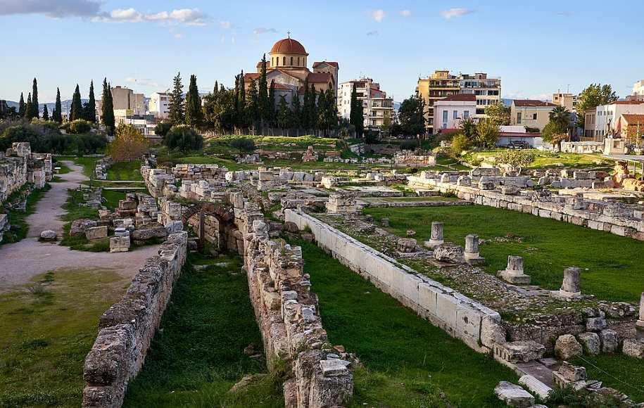Kerameikos Cemetery in Athens, Greece