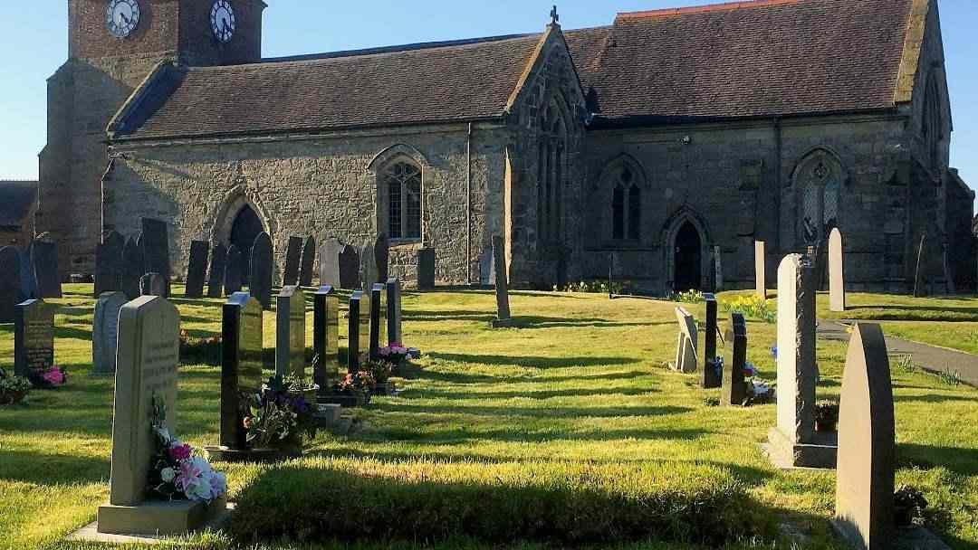 Graveyard outside a church