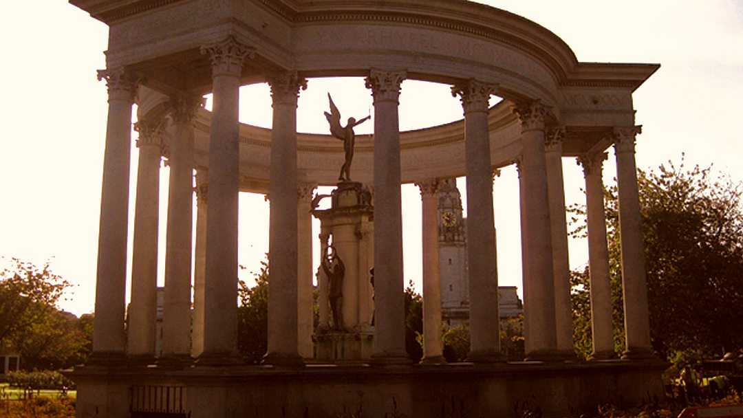 National War Memorial monument in Cathays Park, Cardiff